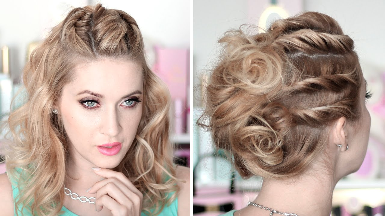 Prom/party hairstyles ★ Running late updo ★ Medium/long hair ...