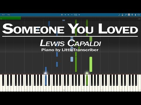 Lewis Capaldi - Someone You Loved (Piano Cover) Synthesia Tutorial By LittleTranscriber