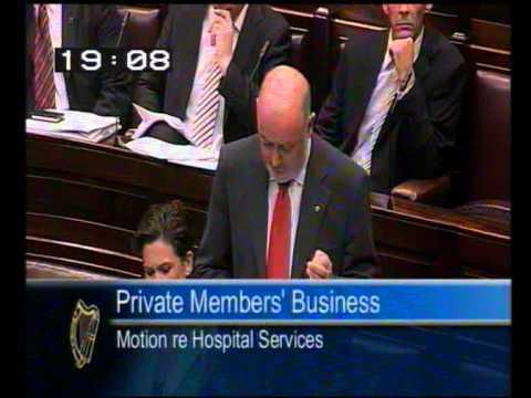 Caoimhghín Ó Caoláin challenges the Government on Closure of Hospital Services