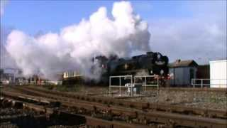 "THE CATHEDRALS EXPLORER {DAY 1&2} 35028 ""CLAN LINE"" @ Exeter 9-10/5/13"