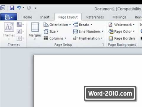 Microsoft Word 2010 - Quick Access Toolbar