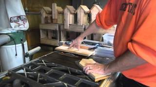 Offset Pattern Cutting Table Saw Jig Birdhouse Woodworking #2 Video