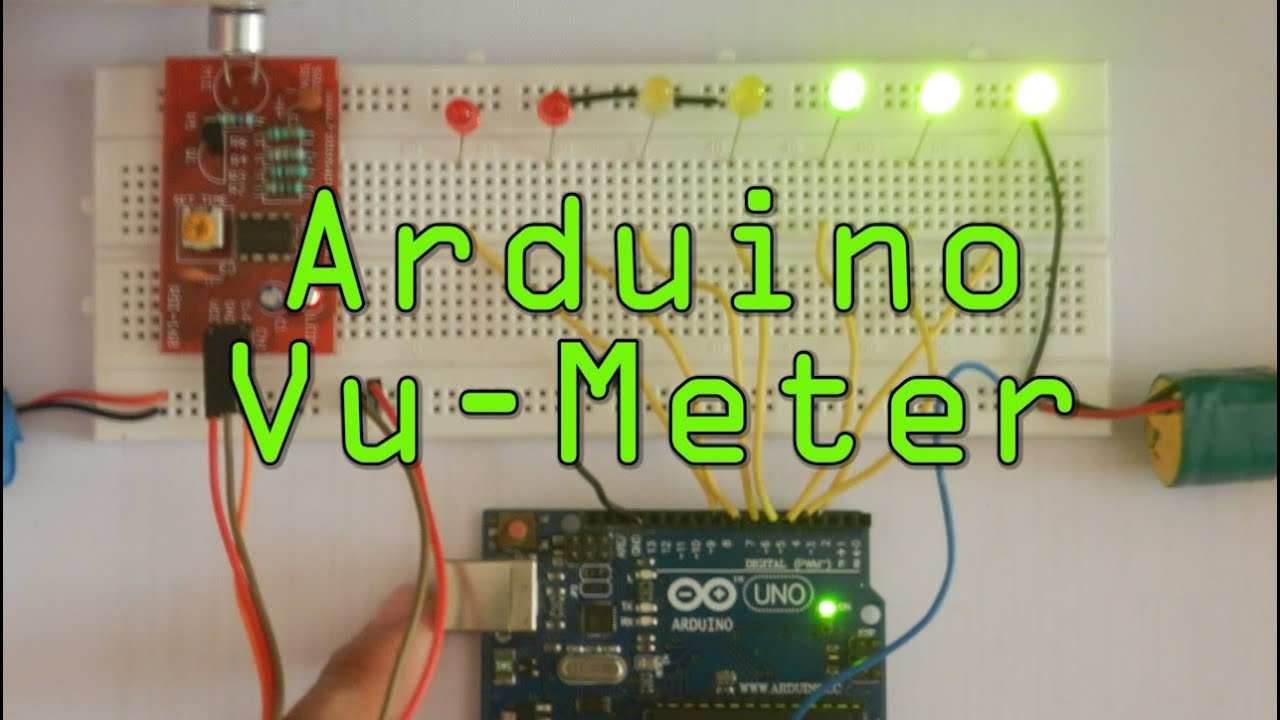 Led Sensor Vu Meter Using Arduino Uno - Youtube