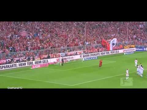 ║★║ Daniel van Buyten ║★║ Free Kick vs Bayer Leverkusen - Am
