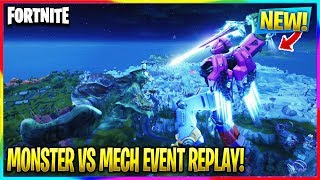 *NEW* FORTNITE MECH VS MONSTER EVENT REPLAY! (Cinematic Fortnite Event Replay No Commentary)