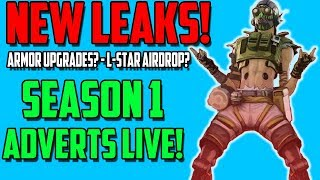 Apex Legends Season 1 Ads Live! | Upgradeable Armor Code?| L-Star Airdrop gun? | New Ability Pings