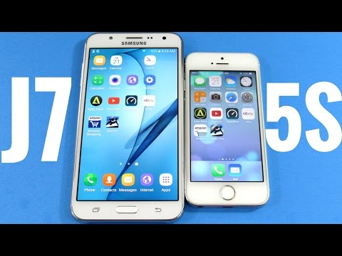Samsung Galaxy J7 vs iPhone 5S