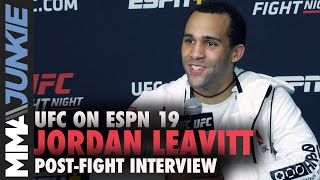 Jordan Leavitt reacts to slam knockout of Matt Wiman | UFC on ESPN 19 full interview