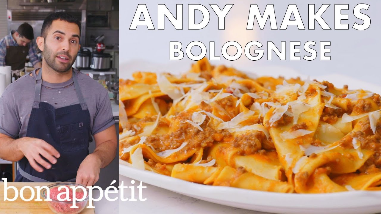 Andy Makes Pasta with Bolognese Sauce | From the Test Kitchen | Bon Appétit