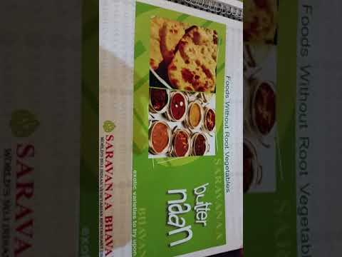Saravana Bhavan meal. Vegetarian restaurant