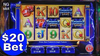 💥High Limit💥Thunder Cash Slot Machine Bonus 🌟 BIG WIN🌟$20 Bet Bonus,Better Than HANDPAY JACKPOT