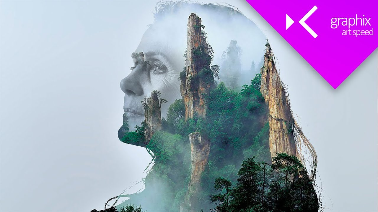 Double Exposure - Art Speed Graphic Design Concept | Photoshop CC 2015 - GraphixTV
