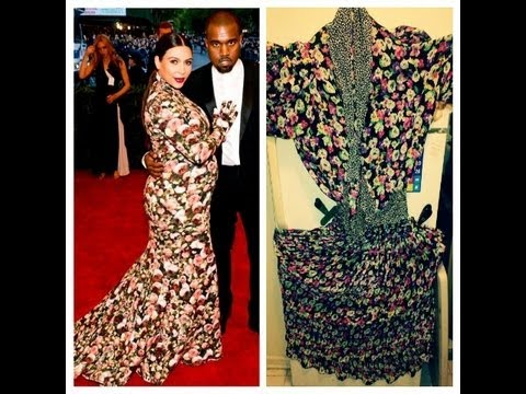 Kim Kardashian S Flower Dress Parody