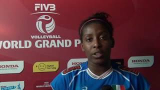 19-06-2016: Bari WGP - Miriam Sylla dopo Italia-Russia
