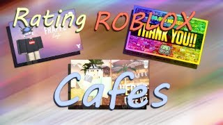 Reviewing 5 Star Roblox Cafes! (10/10 Service... ) | Roblox