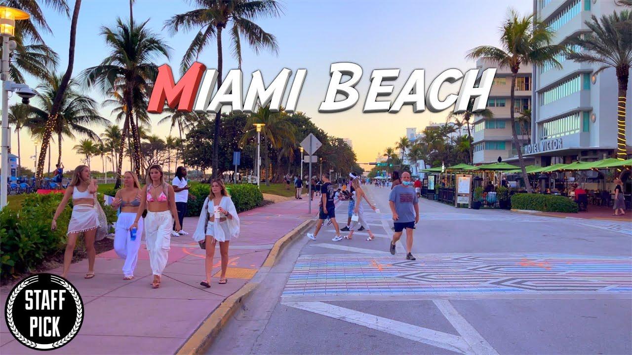 Download Walking Tour - Miami Beach  - South Beach - 4K HDR 60Fps