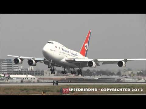 Yemen Government Boeing 747SP-27 [7O-YMN] Landing with ATC
