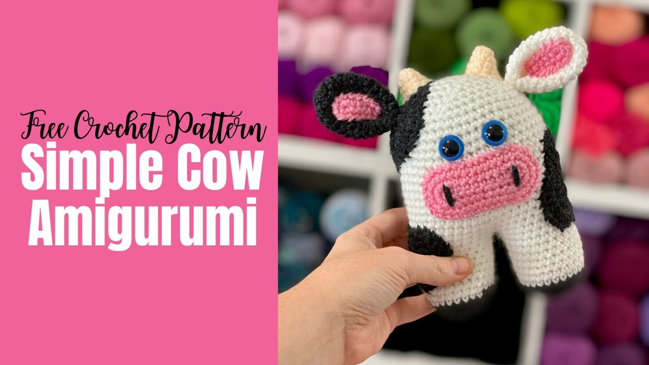 Amigurumi Cow - A Free Crochet Pattern - Grace and Yarn | 720x1280