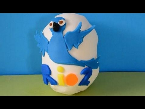 Play-doh Surprise Eggs Toys Rio 2 Funny video for Kids