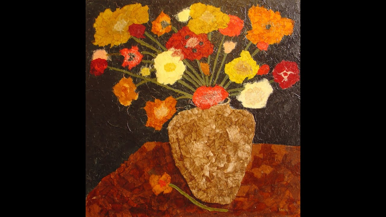How to make a Collage of flowers - YouTube