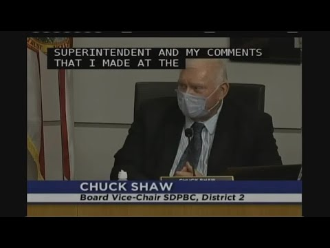School Board Member Chuck Shaw Voices Support For Dr. Donald Fennoy