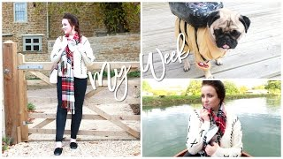 My Week: Soho Farmhouse, Falling In The River & Rupert's Halloween Outfit   Becca Rose Vlogs