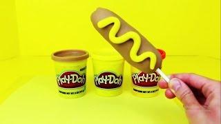 Cooking Toys For Kids Kitchen Ramen Noodle, Hotdog Playdough Kitchen Toys