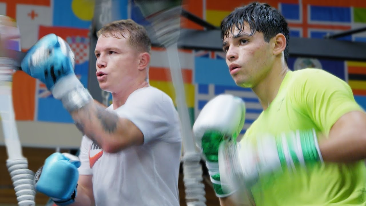 Training Camp Day 1: Sparring at Canelo Álvarez's Gym | Ryan Garcia Vlogs