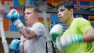Training Camp Day 1: Sparring at Canelo Álvarez's Gym | Ryan Garcia Vlogs