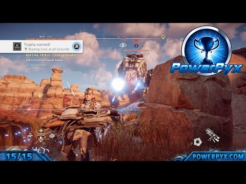 Horizon Zero Dawn - All Hunting Ground Trials - Blazing Sun Marks Walkthrough