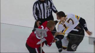 Milan Lucic fights Chris Neil 9/25/09 (preseason)