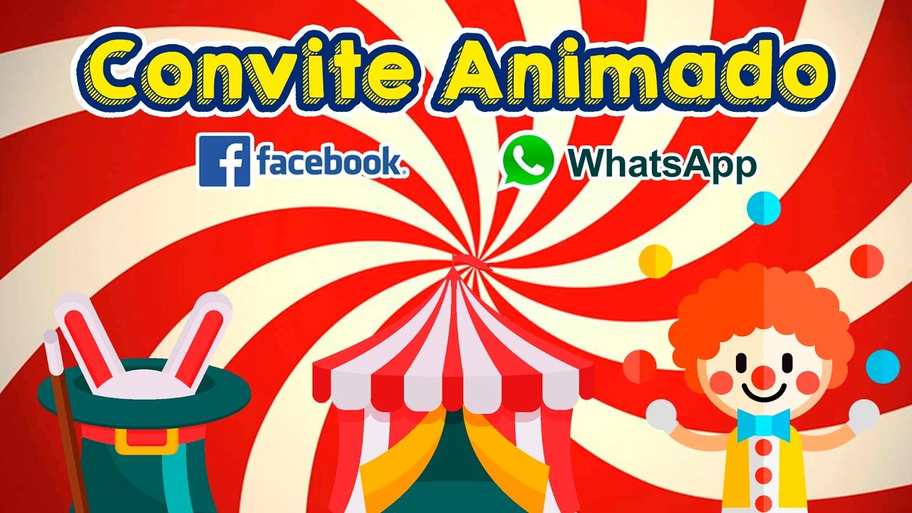 Convite Animado Circo Convite Virtual Aniversário Youtube