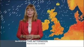 SIAN LLOYD:-: ITV Weather - 25 Aug 2013 -