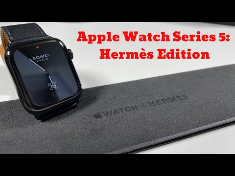 Apple Watch Series 5: Limited Edition Hermès Space Black