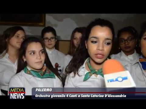 Palermo: Orchestra giovanile 4 Canti nella chiesa di Santa Caterina D'Alessandria