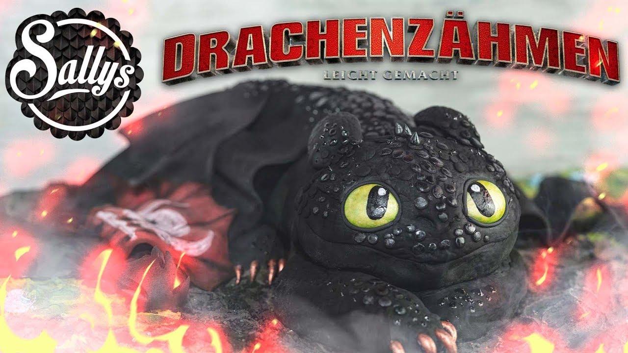 Drachenzhmen leicht gemacht 3  Ohnezahn Toothless Motivtorte Torte  Sallys Welt  YouTube