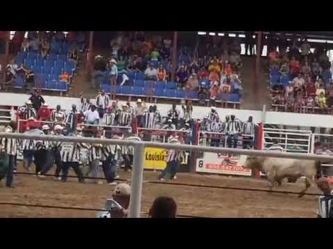 Angola Prison Rodeo 2014 - Guts and Glory event - grab the poker chip