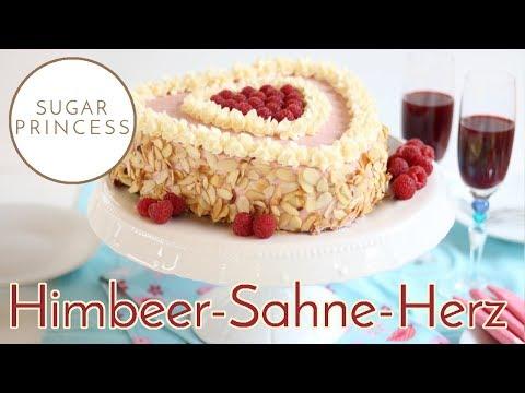 Leckere Himbeer-Sahne-Torte - leicht und luftig/ Muttertag/ Valentinstag| Rezept von Sugarprincess