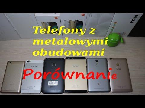 Chińskie telefony z metalowymi obudowami, prównanie, test
