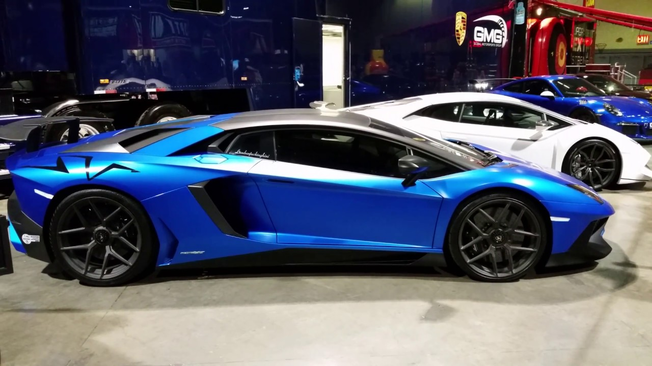 beautiful blue lamborghini aventador show car 4k uhd 2017 long beach grand prix ca youtube. Black Bedroom Furniture Sets. Home Design Ideas