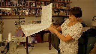 видео Накидки на стулья своими руками: простая выкройка