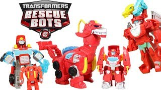 Transformers Rescue Bots Heatwave Firetruck, Dragon, Dinobot & Boat Mode! So Many Modes of Heatwave!