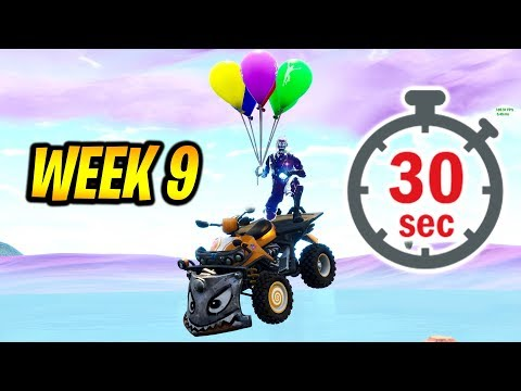 GET 30s OF AIRTIME ON A VEHICLE! WEEK 9 Challenges Fortnite In SEASON 6! (Fastest Way)
