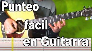 Repeat youtube video Punteo Fácil para principiantes en la guitarra