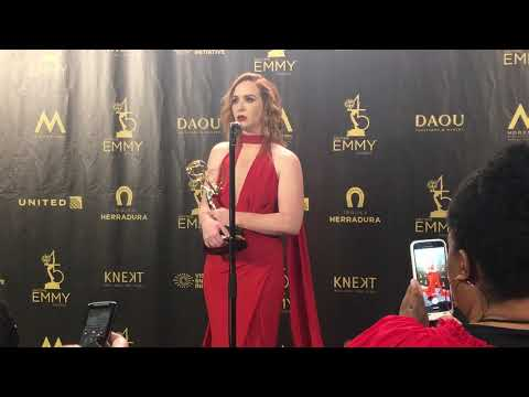 Camryn Grimes  at 2018 Daytime Emmys on Supporting Actress win