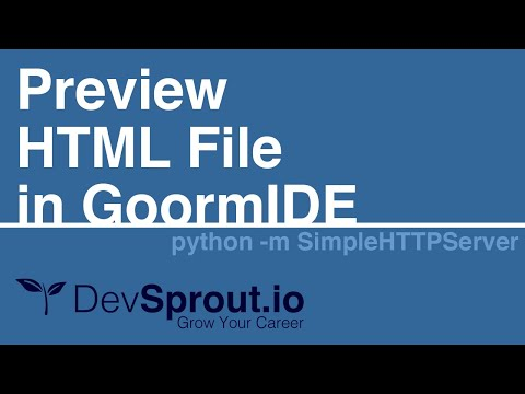 Preview HTML File with GoormIDE and SimpleHTTPServer