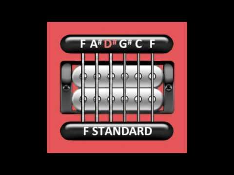 Perfect Guitar Tuner (F Standard = F A# D# G# C F)
