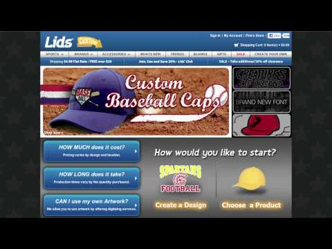 bc8489799 Custom Hats Video from LIDS