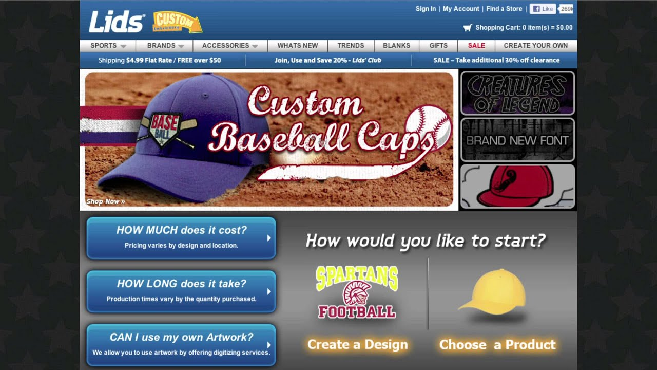 Custom Hats Video From Lids Youtube