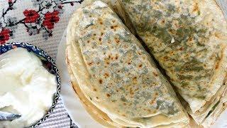 Кутабы/гутаб с зеленью. Азербайджанская кухня.